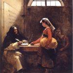https://upload.wikimedia.org/wikipedia/commons/6/6a/A_Peasant_Girl_buying_an_Indulgence.jpg